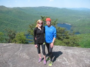 Coach Pat and Kari on top of Table Rock after one of thier weekend hikes.